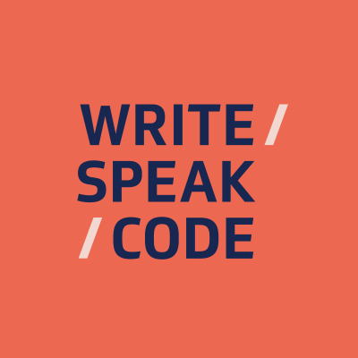 Write/Speak/Code headshot